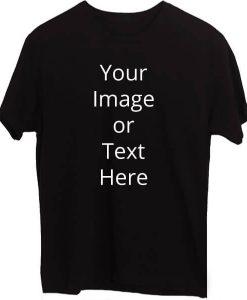 Black Custom T-Shirt Round Neck