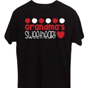 Black-T-Shirt-Grandma-Sweet-Daughter