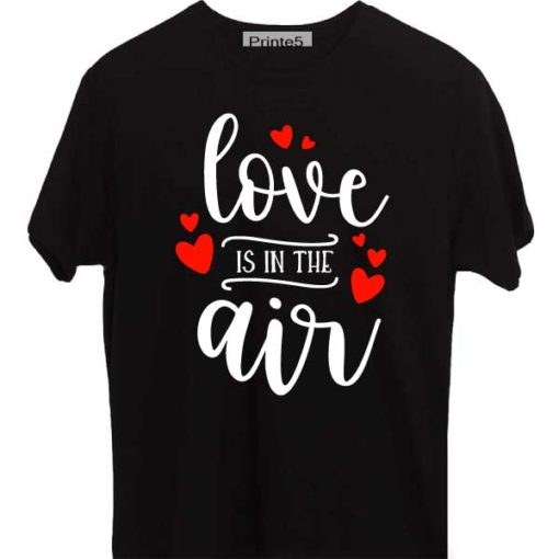 Black-Valentine-Day-Couple-T-Shirt-Love-is-in-the-air