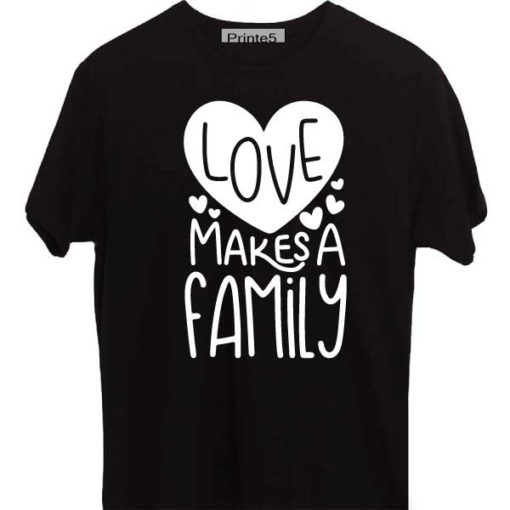 Black-Valentine-Day-Couple-T-Shirt-Love-makes-a-family