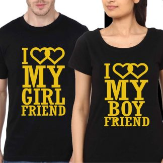 Couple-Black-T-Shirt-I-Love-My-Boy-Friend