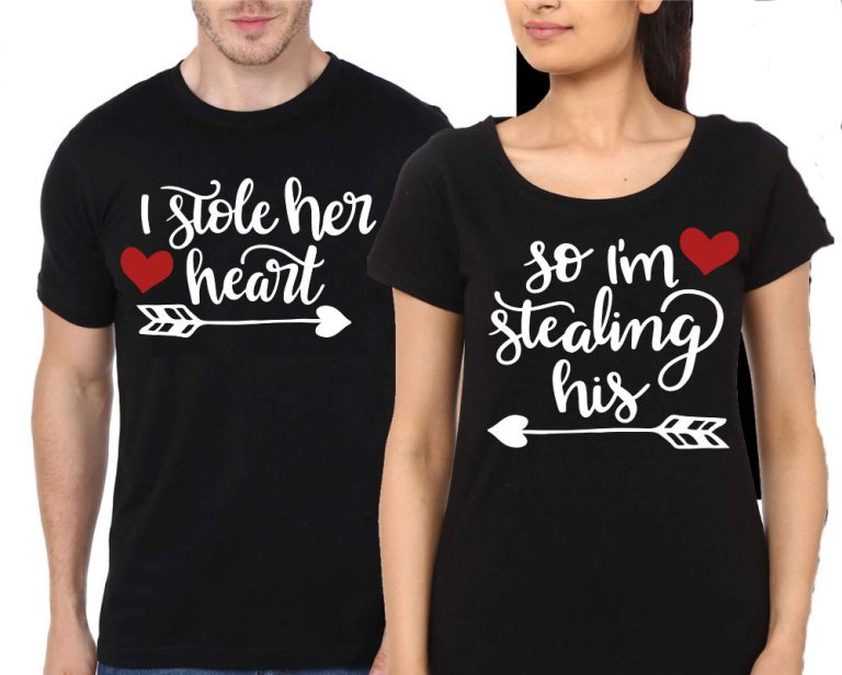 Couple-Black-T-Shirt-I-Store-Her-Heart