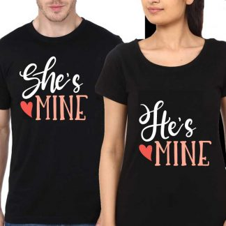 Couple-Black-T-shirt-hes_mine_shes_mine