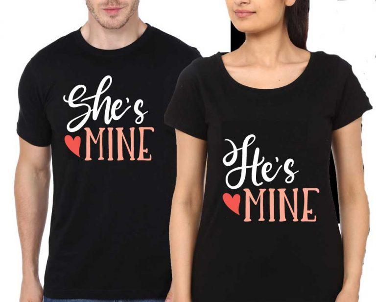 Couple-Black-T-shirt-hes_mine_shes_mine