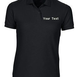 Custom Black Polo T-Shirt PI