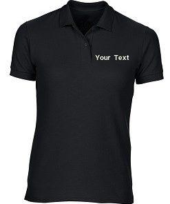 Custom Black Polo T-Shirt PI