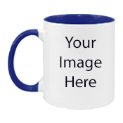 Customize White n Blue Mugs