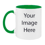 Customize Green N White Mugs