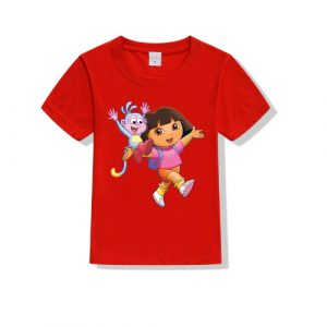 Printe5 Dora Buchi Printed Kid's T Shirts