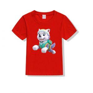 Printe5 Colorful Paw Printed T-Shirt Kid's T Shirts Colorful Paw Printed T-Shirt
