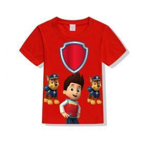 Printe5 Chase Paw Patrol Team Kid's T Shirts