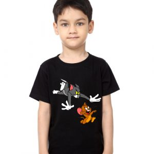 Printe5 Tom And Jerry Chasing Kid's T Shirts