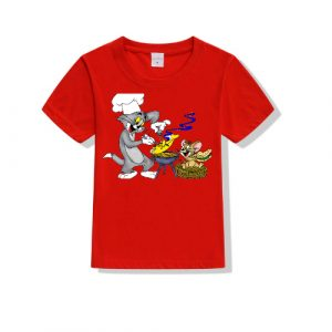 Printe5 Tom And Jerry Cooking Kid's T Shirts