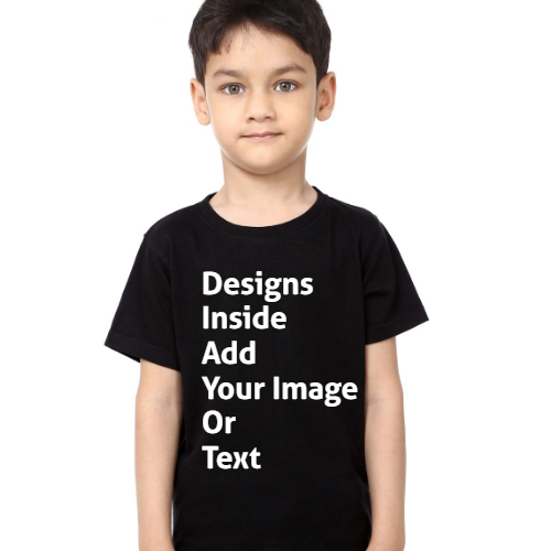 Design your boy's Black T-Shirt