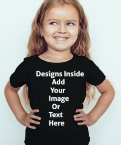 Design your girl's Black T-Shirt