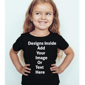 Design your girl's Black T-Shirt