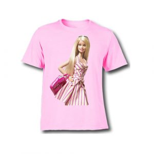 Personalize your Barbie Pink Kids Birthday T-Shirts
