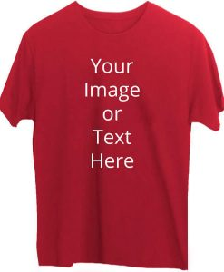 Red Custom T-Shirt Round Neck