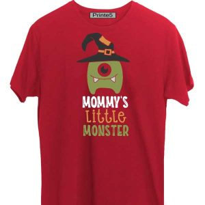 Red-Family-T-Shirt-Mommy's-little-monster