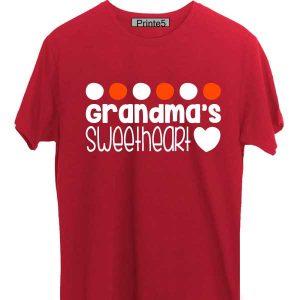 Red-T-Shirt-Grandma-Sweet-Daughter
