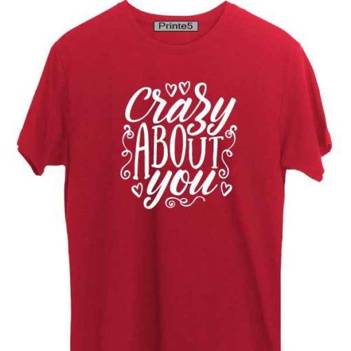 Red-Valentine-Day-Couple-T-Shirt-Crazy-About-You