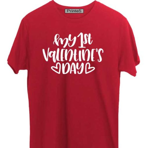 Red-Valentine-Day-Couple-T-Shirt-My-1st-Valentines-Day