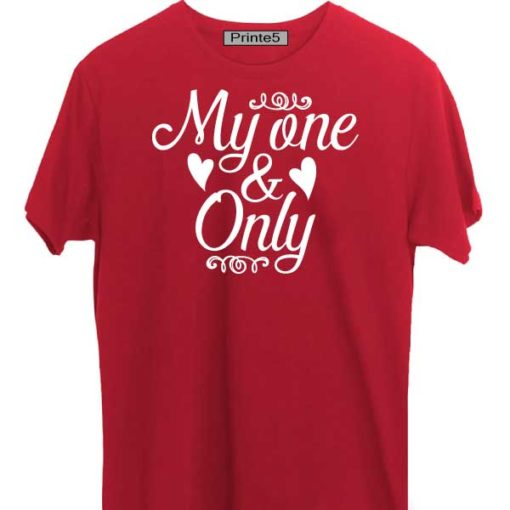 Red-Valentine-Day-Couple-T-Shirt-My-One-&-Only