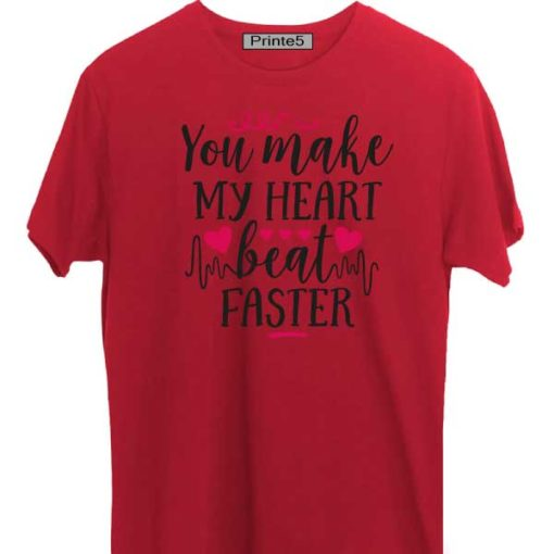 Red-Valentine-Day-Couple-T-Shirt-You-Make-my-heart-beat-faster