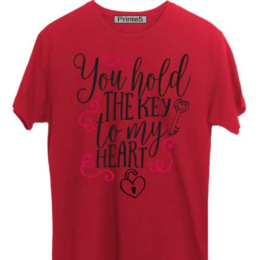 Red-Valentine-Day-Couple-T-Shirt-You-hold-the-key-of-my-heart