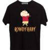 Shin-Chan-Rowdy-Baby-Black-T-Shirt
