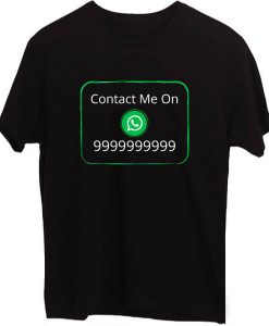 Social Media Whats app Black T-Shirts
