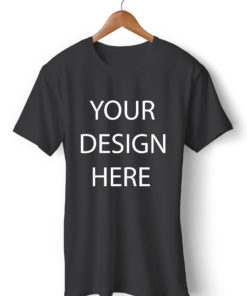 Customized Round Neck Black T-Shirt