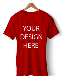 Customized Round Neck Red T-Shirt | Printe5