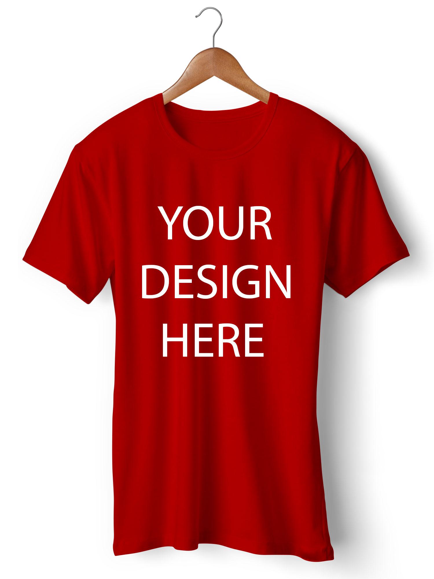 Customized Round Neck Red T-Shirt | Printe5