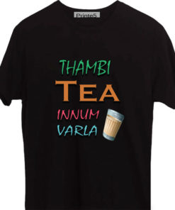 Thambi-Tea-Innum-Varla-Yellow-Black-T-Shirt