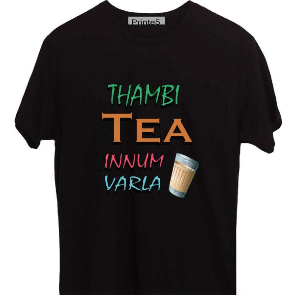 Thambi-Tea-Innum-Varla-Yellow-Black-T-Shirt