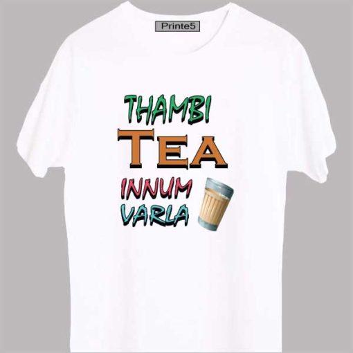 Thambi-Tea-Innum-Varla-Yellow-White-T-Shirt