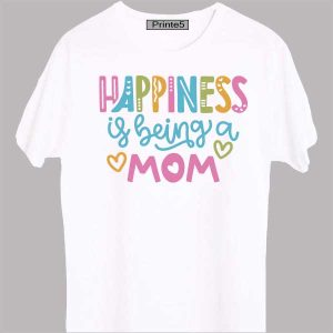 White-Family-T-Shirt-Happiness-is-being-Mom