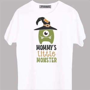 White-Family-T-Shirt-Mommy's-little-monster