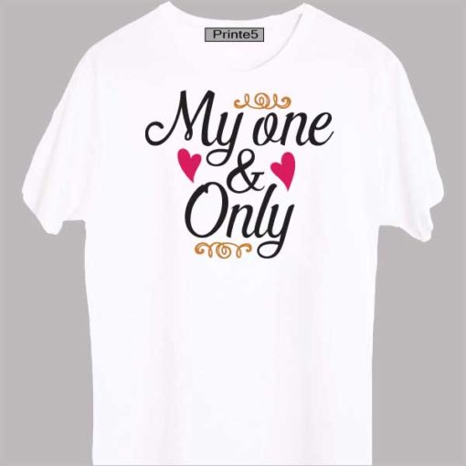 White-Valentine-Day-Couple-T-Shirt-My-One-&-Only
