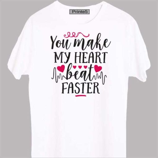 White-Valentine-Day-Couple-T-Shirt-You-Make-my-heart-beat-faster