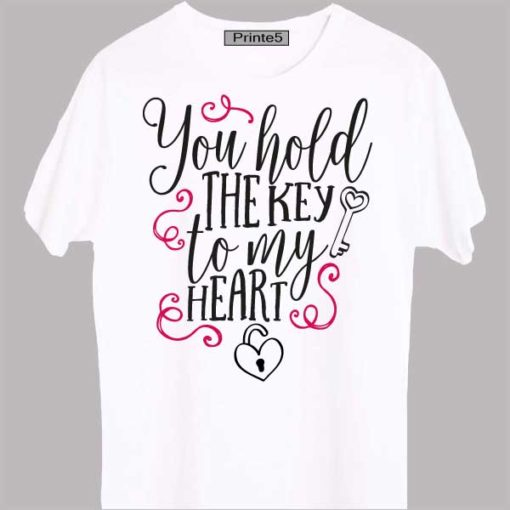 White-Valentine-Day-Couple-T-Shirt-You-hold-the-key-of-my-heart