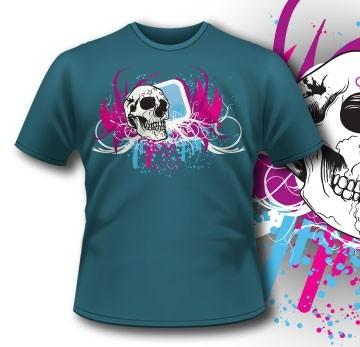 106 Abstract Skull Shirt