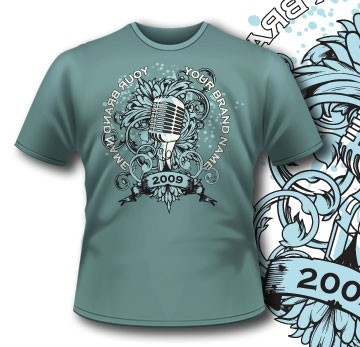 135 Old Microphone Tee