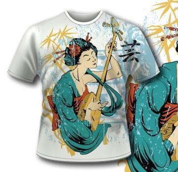 141 Japan Geisha T Shirt