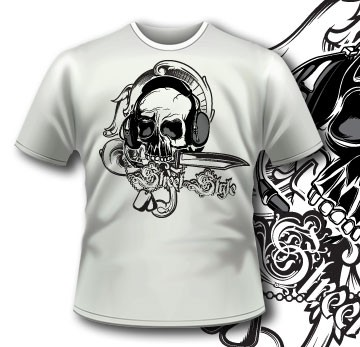 150 Hardcore Rock Skull Apparel
