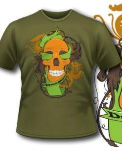 91 Floral Skull T-Shirt