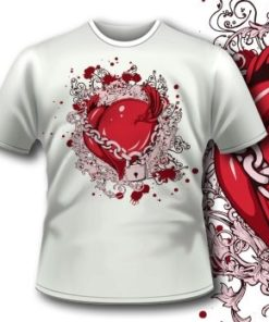 Chained Heart Shirt 47 Tm0553
