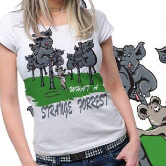 Elephant Printed Tshirt Plus 45 Tm1050