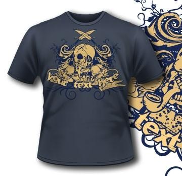 Pirate Skull Tee T-Shirt 9 Tm1079